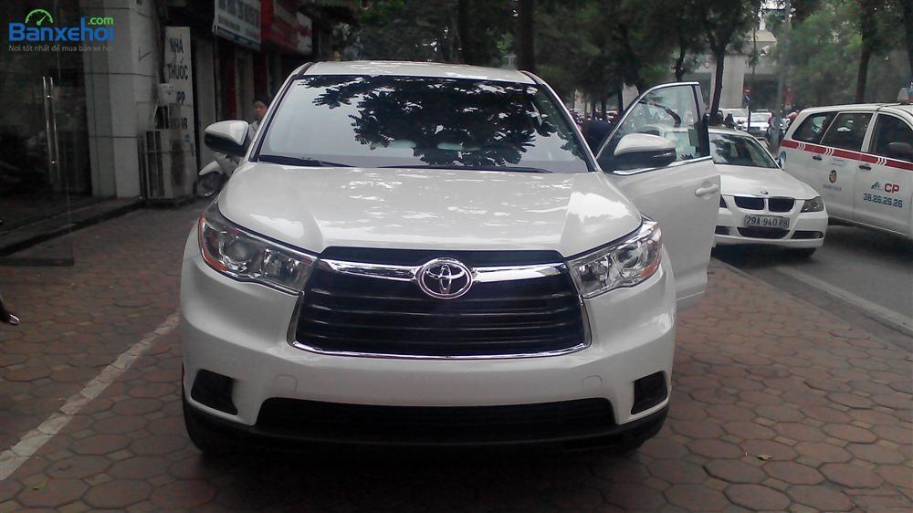Bán Toyota Highlander LE đời 2014, màu trắng, nhập khẩu chính hãng
