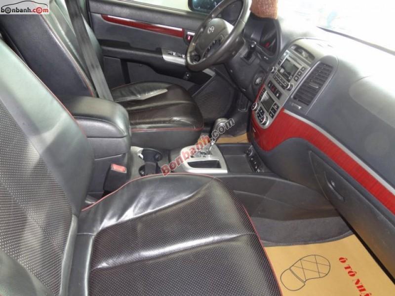 Xe Hyundai Santa Fe MLX đời 2008, màu đen, nhập khẩu chính hãng số tự động cần bán