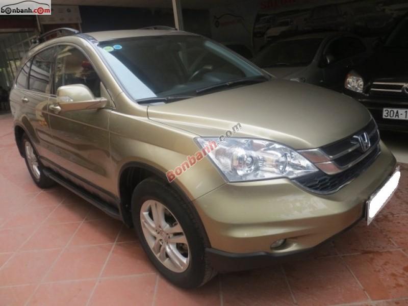 Cần bán Honda CR V 2.4 đời 2010, màu nâu