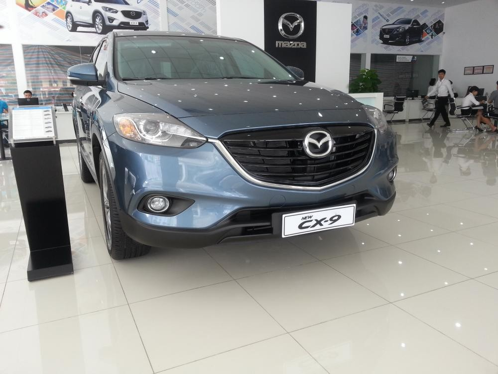 Bán ô tô Mazda CX 9 2015, màu xanh, nhập khẩu, bán tại Mazda Long Biên