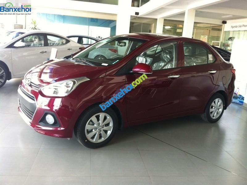 Bán xe Hyundai i10 sản xuất 2015, màu đỏ