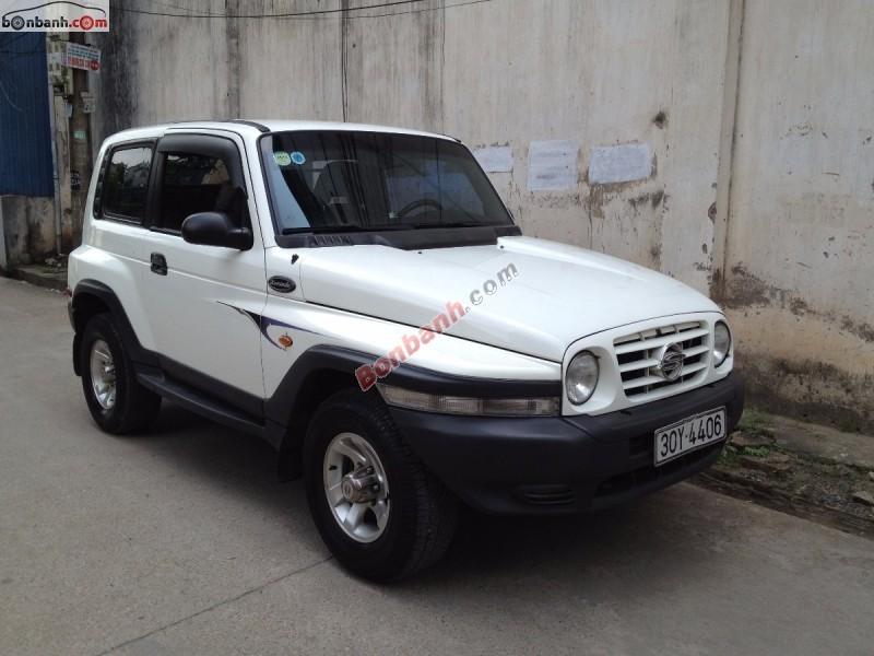Cần bán xe Ssangyong Korando đời 2004, màu trắng, nhập khẩu nguyên chiếc