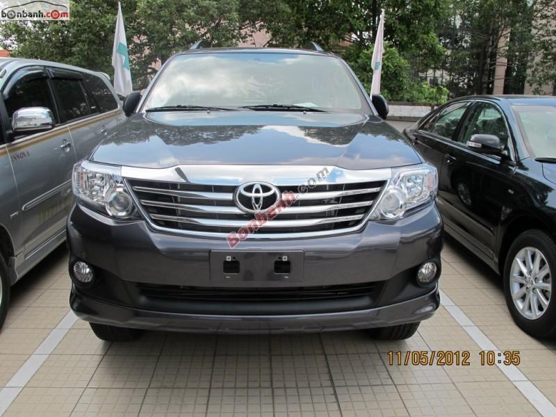 Cần bán Toyota Fortuner 2.7V 4x2 AT đời 2015, màu xám