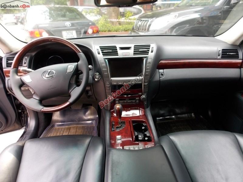 Xe Lexus LS 460L đời 2008, màu đen, xe nhập, xe đẹp như mới