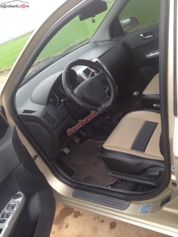 Cần bán lại xe Hyundai Getz 1.1MT đời 2009, màu vàng cát, nhập khẩu