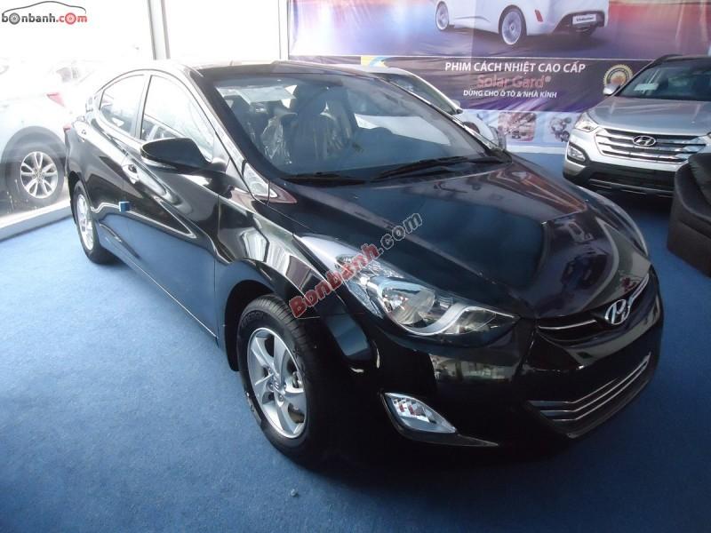 Bán ô tô Hyundai Elantra MT năm 2015, màu đen, xe nhập
