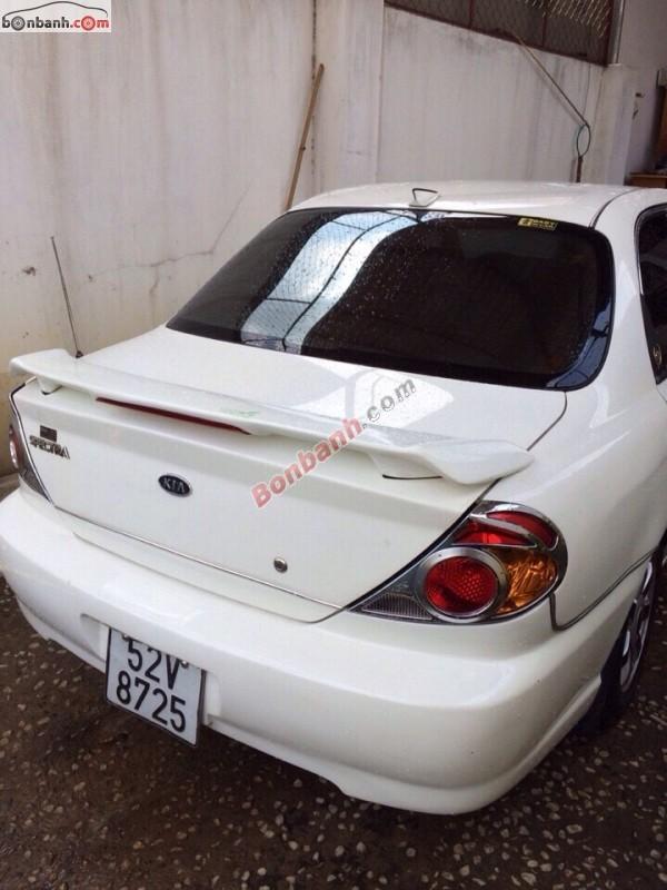 Cần bán lại xe Kia Spectra đời 2003, màu trắng, xe gia đình
