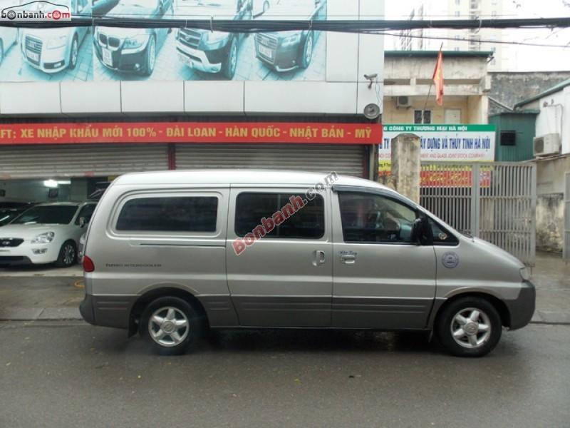 Cần bán Hyundai Starex MT đời 2003, màu bạc, nhập khẩu chính hãng số sàn, giá 255Tr