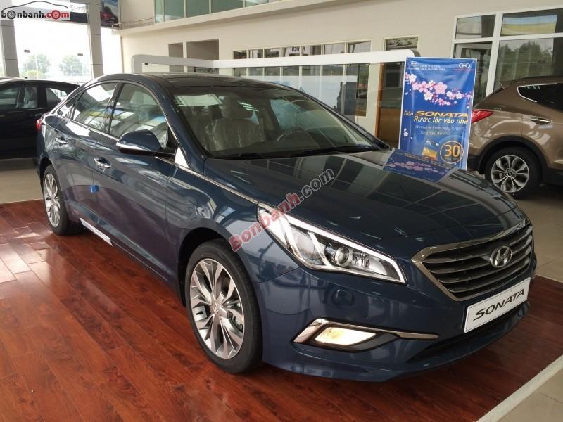 Cần bán xe Hyundai Sonata đời 2015, màu xanh lam, xe nhập