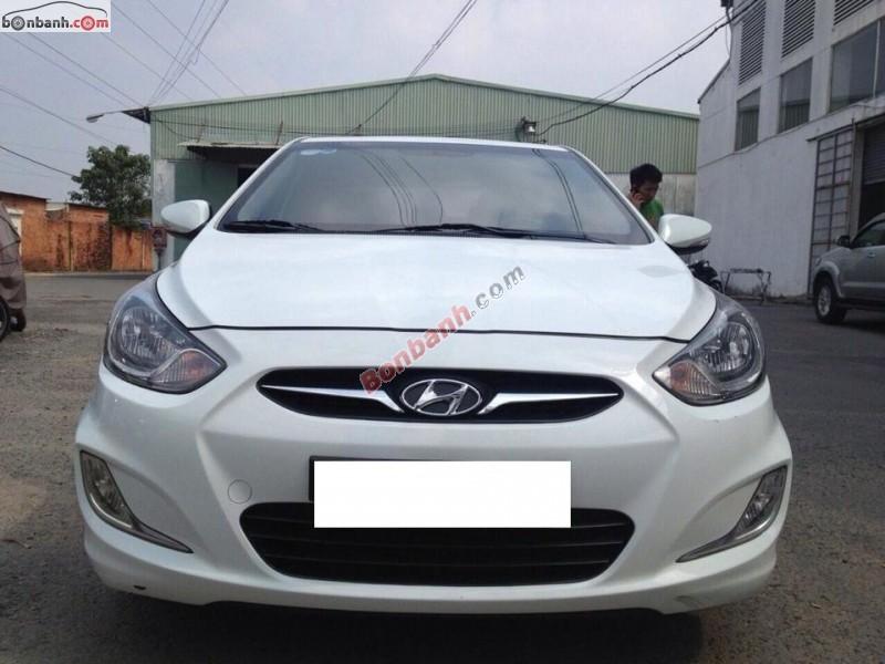 Cần bán xe Hyundai Accent AT đời 2011, màu trắng, xe nhập còn mới
