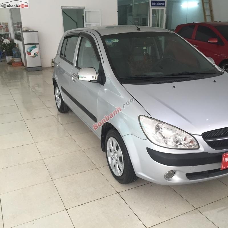 Bán Hyundai Getz đời 2010, màu bạc, nhập khẩu Hàn Quốc số sàn