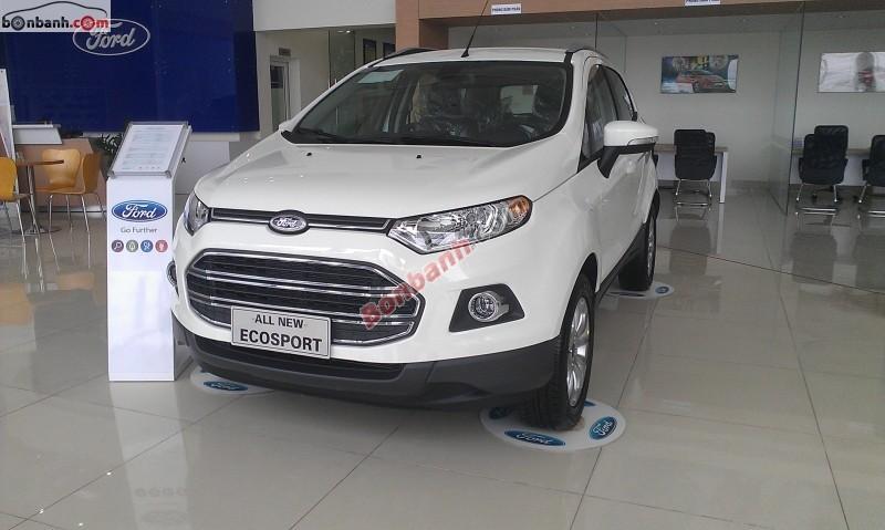 Cần bán Ford EcoSport Titanium 1.5L AT đời 2014, màu trắng, giá chỉ 641 triệu