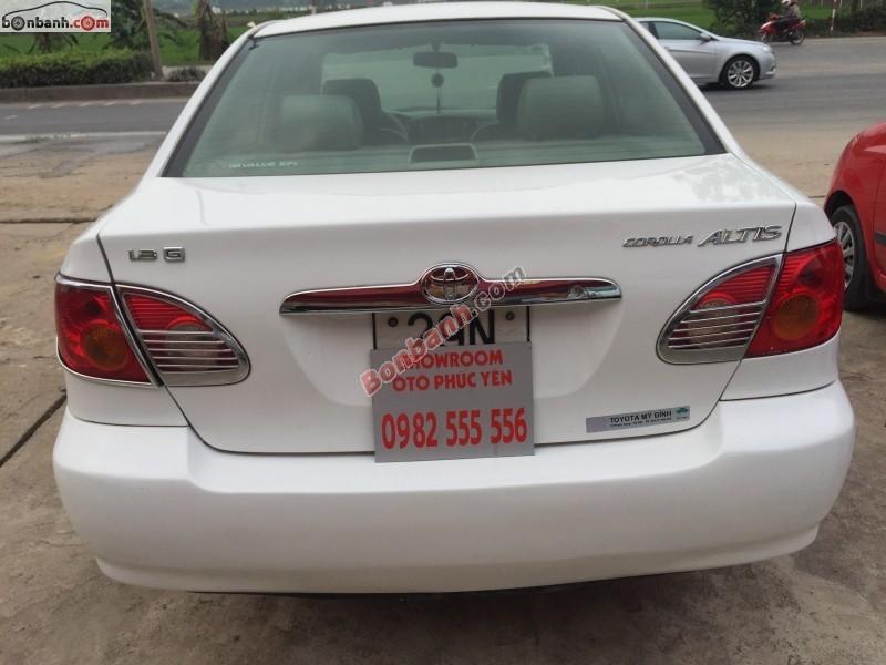 Cần bán gấp Toyota Corolla 1.3J đời 2002, màu trắng