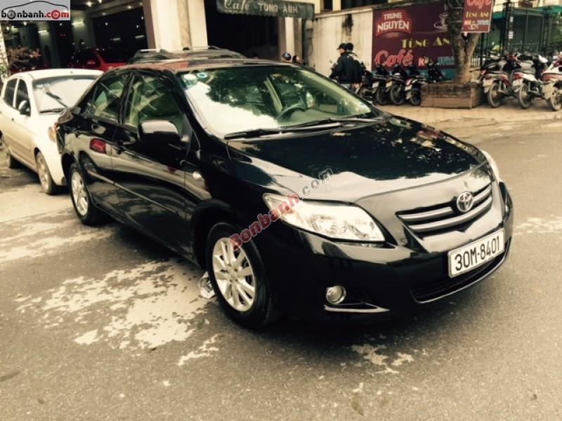 Mình cần bán xe Toyota Corolla đời 2008, màu đen, nhập khẩu Nhật Bản nhanh tay liên hệ