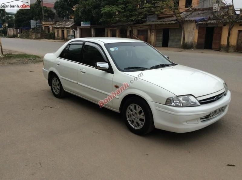 Cần bán gấp Ford Laser 1.6 MT năm 2000, màu trắng chính chủ,  xe còn đẹp