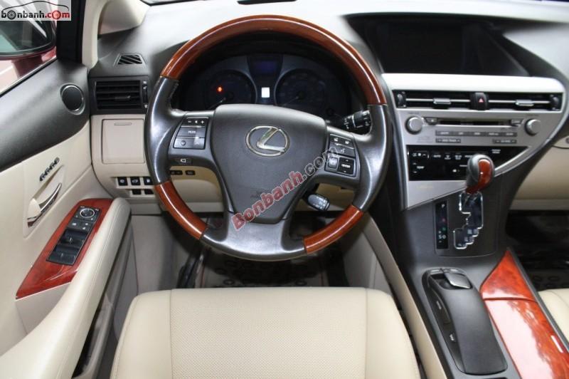 Xe Lexus RX 350 đời 2011, màu đỏ
