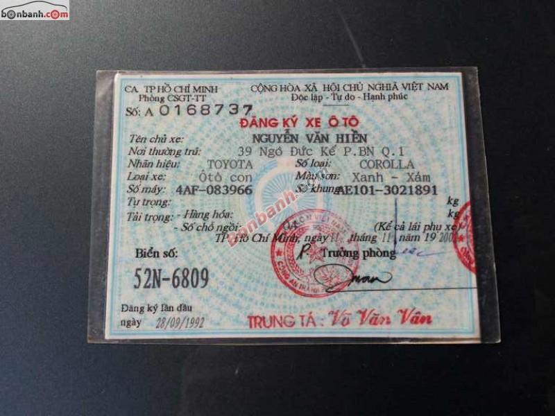 Toyota Corolla 1.6GL đời 1992, nhập từ Nhật