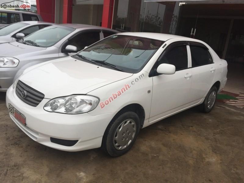 Bán Toyota Corolla 1.3J đời 2002, màu trắng, giá bán 290Tr