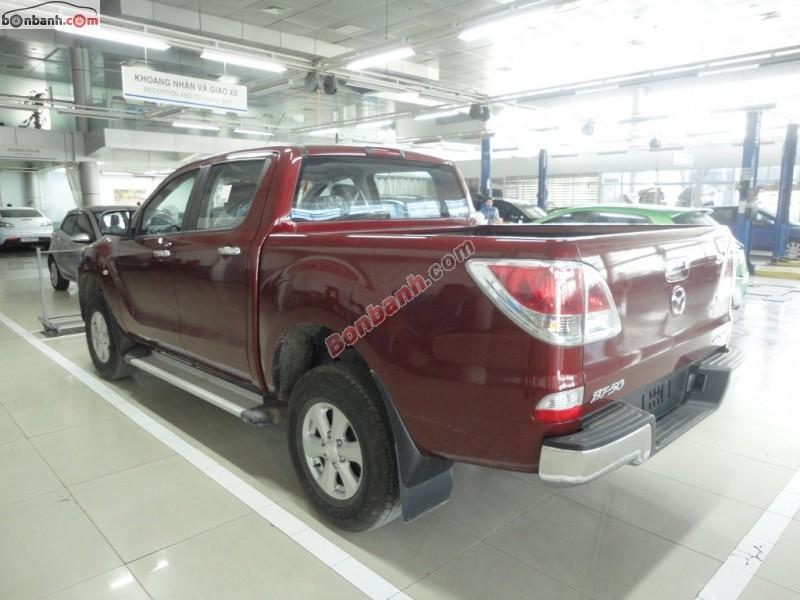 Bán Mazda BT 50 2.2MT đời 2015, màu đỏ, nhập khẩu, 654 triệu
