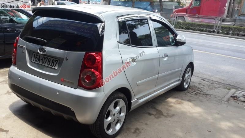 Chợ ô tô Hải Phòng bán xe Kia Morning đời 2008, màu bạc, nhập khẩu nguyên chiếc