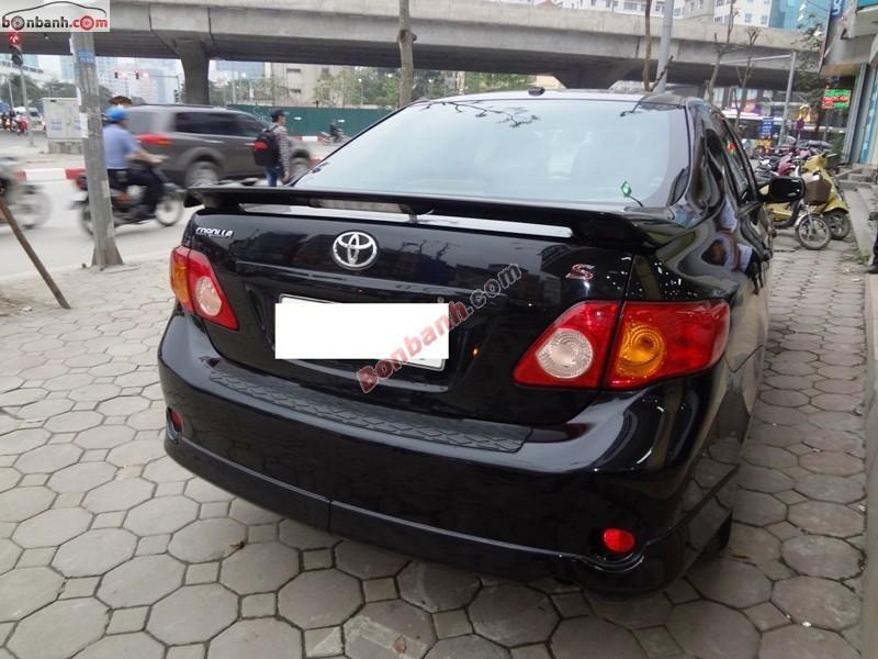 Mình cần bán ô tô Toyota Corolla S 1.8AT đời 2008, màu đen, xe nhập chính chủ