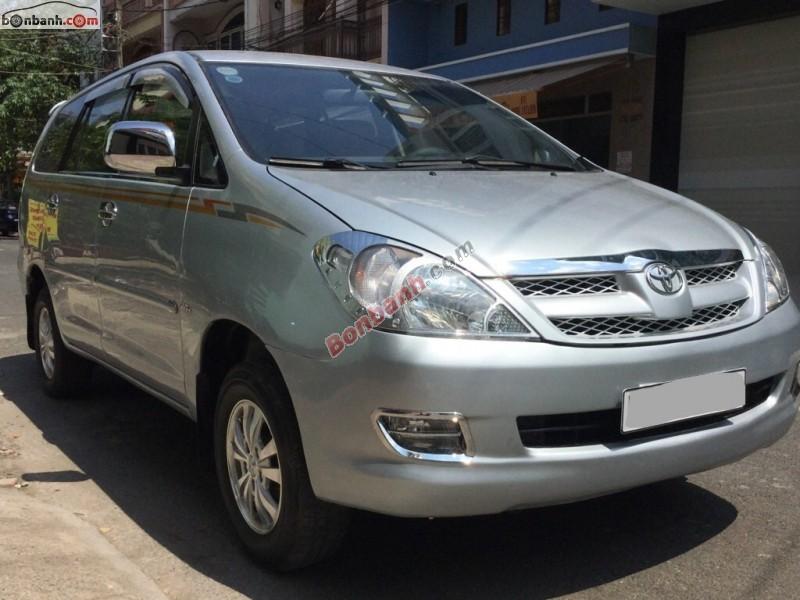 Xe Toyota Innova 2008, màu bạc, xe đẹp