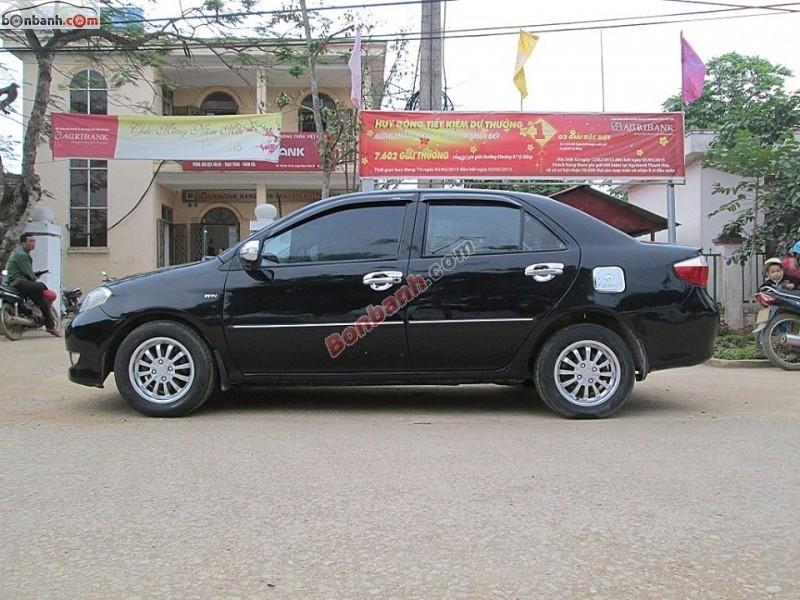 Gia đình cần bán lại xe Toyota Vios 1.5 G 2005, màu đen, ít sử dụng