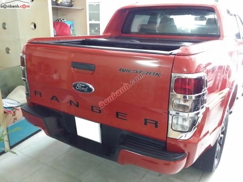 Cần bán lại xe Ford Ranger Wildtrak 2.2L sản xuất 2014, màu đỏ, như mới, giá 740Tr