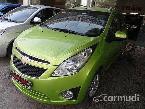 Xe Chevrolet Spark LT 2012 cũ màu xanh lá cây đang được bán với giá 320 tr