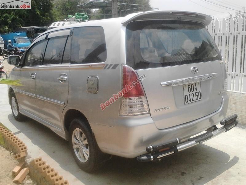Cần bán xe Toyota Innova 2.0 G đời 2009, màu bạc
