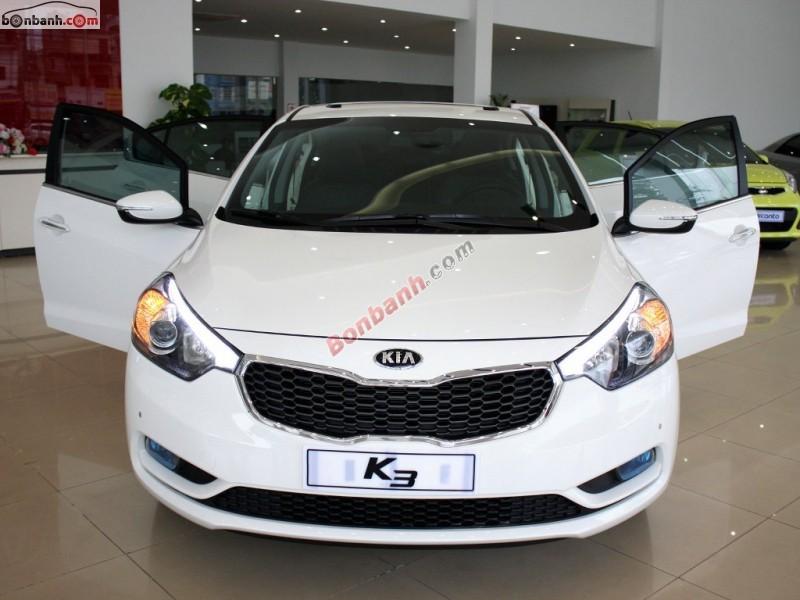 Cần bán xe Kia K3 2.0AT đời 2015, màu trắng - LH ngay 0938 808 415