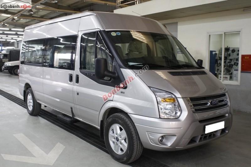 Cần bán Ford Transit Luxury đời 2015, màu bạc tại Hà Nội Ford