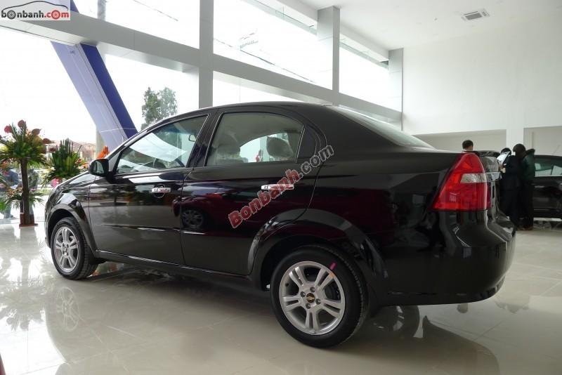 Bán Chevrolet Aveo LT đời 2015, màu đen, giá 447Tr