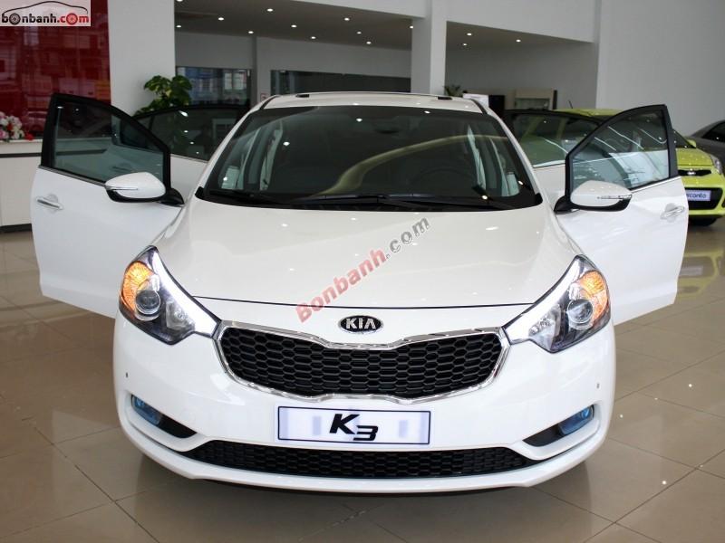 Bán ô tô Kia K3 1.6 AT năm 2015, màu trắng, giao xe ngay