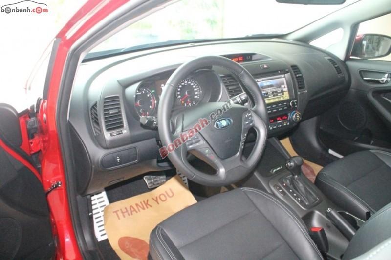 Bán Kia K3 1.6 AT đời 2015, màu đỏ, full options