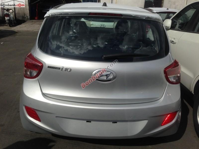 Bán xe Hyundai i10 Grand 1.0MT đời 2015, màu bạc, nhập khẩu nguyên chiếc