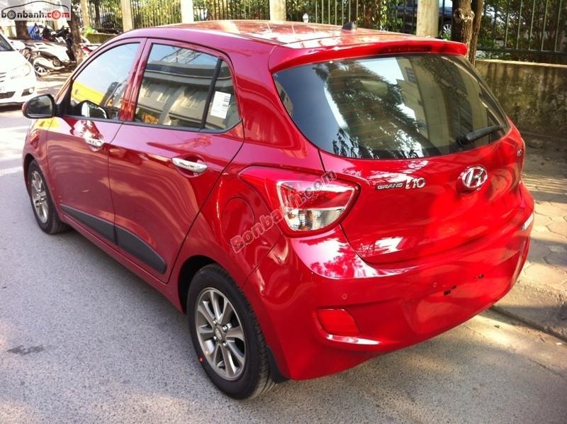 Cần bán Hyundai i10 1.2 AT đời 2015, màu đỏ, nhập khẩu, 455Tr