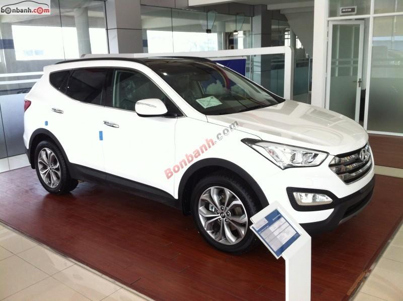 Bán xe Hyundai Santa Fe 2.2 CRDi đời 2015, màu trắng, lịch lãm, thời trang