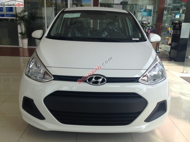 Bán xe Hyundai i10 Grand 1.0MT đời 2015, màu trắng, nhập khẩu chính hãng, giá 353Tr