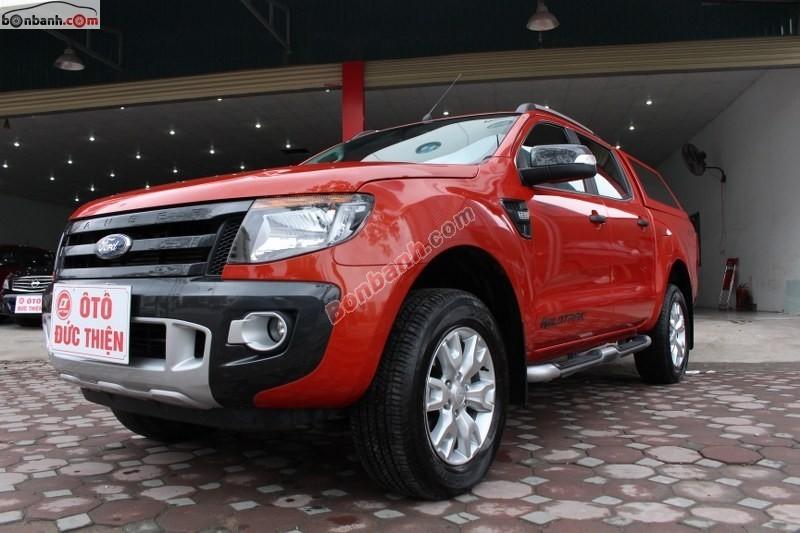 Cần bán lại xe Ford Ranger đời 2014, màu đỏ, nhập khẩu nguyên chiếc như mới