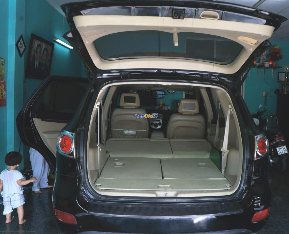 Cần bán lại xe Hyundai Santa Fe đời 2008, màu đen, nhập khẩu Hàn Quốc, xe gia đình