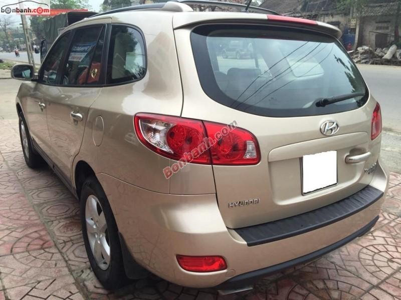 Cần bán lại xe Hyundai Santa Fe đời 2008, zin nguyên bản từ đầu đến đuôi