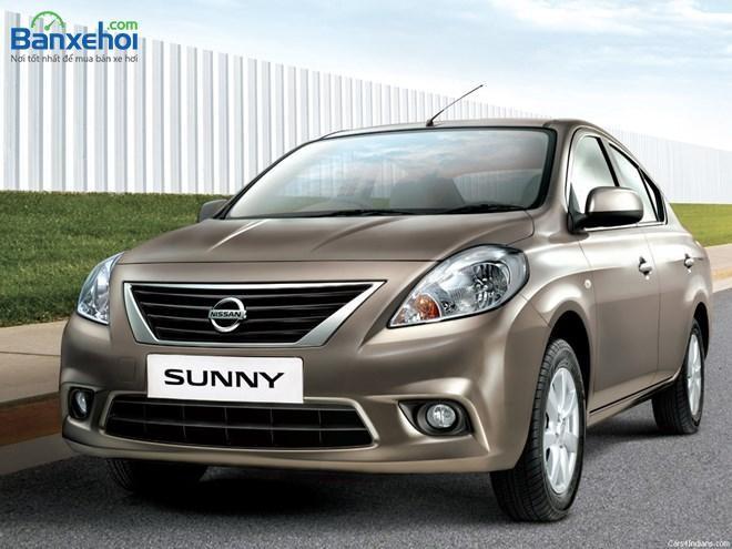 Cần bán xe Nissan Sunny đời 2015, màu nâu, giá 458Tr