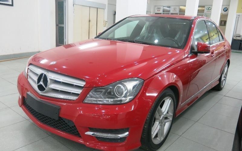 Bán ô tô Mercedes C300 AMG sản xuất 2011, màu đỏ, nhập khẩu