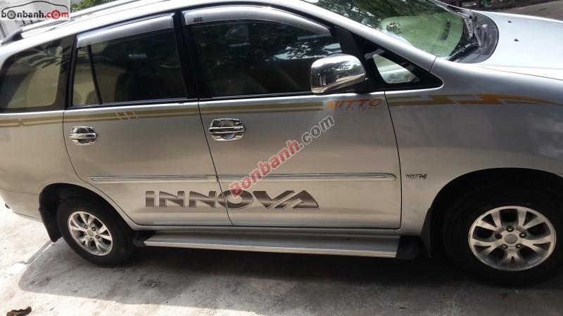 Ô tô Toyota Innova năm 2007, màu bạc, chính chủ, 435tr bán