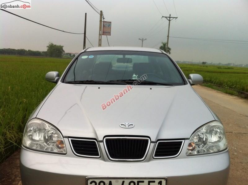 Cần bán lại xe Daewoo Lacetti đời 2005, màu bạc, xe gia đình, giá 248tr