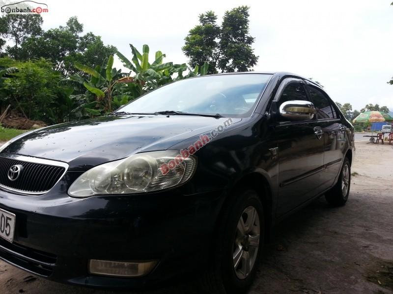 Cần bán gấp Toyota Corolla altis năm 2002, màu đen, xe gia đình