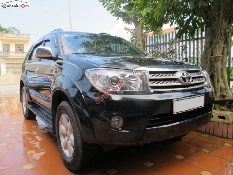 Ô tô Lạng Sơn bán ô tô Toyota Fortuner đời 2010, màu đen, chính chủ