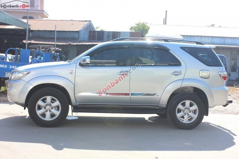 bán Toyota Fortuner G 2.5MT 2009, màu bạc, số sàn