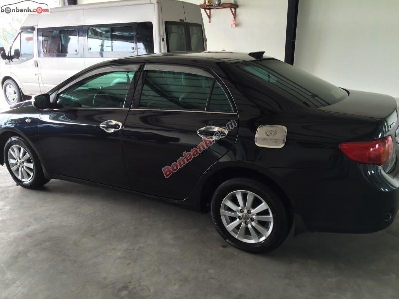 Cần bán Toyota Corolla XLi 1.6 sản xuất 2008, màu đen, nhập khẩu nhật bản, chính chủ